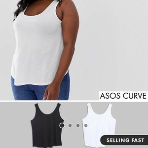 ASOS Curve Ultimate Tanks 2 pack size 16